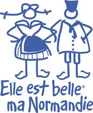 Stickers Elle est belle ma Normandie 15/15cm coloris multiple