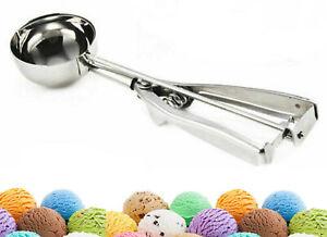 Ice Cream Scoop Stainless Steel 6.5cm Mash Potato Spoon Kitchen Tool Server Food