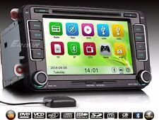 "AUTORADIO 7"" VW Clima Sensori Passat Golf Tiguan Touran Navigatore Gps Dvd Usb"