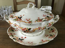 """Rare George Grainger & Co Early Worcester """"Mafeking"""" Complete Soup Tureen c.1771"""