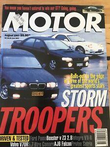 Motor Car magazine AUG 1997 BOXSTER Z3 PUMA INTEGRA V70R SATRIA AJ6 M3 RX7 WRX