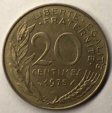 F.156 Monnaie Française 20 Centimes Marianne 1975 Achat Unitaire