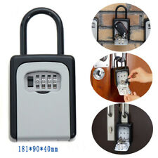 Safty Key Lock Box Set-Your-Own Combination Portable Key Safe Box Holder Wall