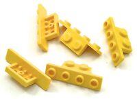 Lego 5 New Yellow Brackets 1 x 2 - 1 x 4 Pieces Parts