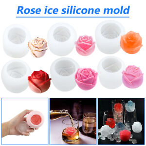 Rose Shape 3D Ice Jelly Cubes Mold Maker Party Silicone Chocolate Cake Mould AU