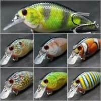 Crankbait Fishing Lures Wide Wobble Slow Floating Lifelike Painting 2X Hook HC15