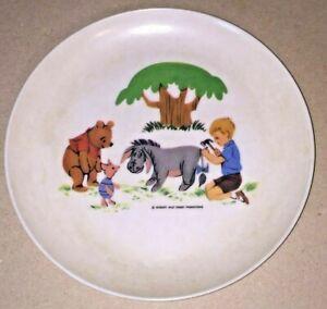 "VIntage 1964 Walt DISNEY Productions Winnie The Pooh Piglet etc Plastic PLATE 7"""