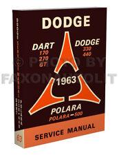 1963 Dodge Riparazione Auto Negozio Manuale 63 Dart Polara 330 440 170 270 Gt