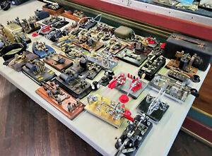 Collection of Telegraph Keys CW Morse code Vibroplex  and more