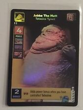 Star Wars Young Jedi ccg Jabba The Hutt, Tatooine Tyrant Reflections Foil