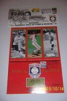 1994 Hall Of Fame INDUCTION Program + Cachet NEW YORK Yankees RIZZUTO Carlton