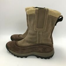 Timberland Boots Size UK7 EU40 25cm Length Brown Leather Women's Winter 301099