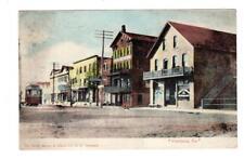 PA - PORTLAND PENNSYLVANIA 1909 Postcard STREET SCENE STREETCAR RESTAURANT HOTEL