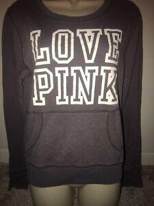 purpley gray long sleeve lightweight sweatshirt victorias secret PINK size med!