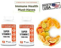 2 Bottles Super Vitamin C 1000 mg Daily Healthy Life High Potency Absorption ❤