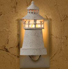 Park Designs Lighthouse Metal Night Light Nautical Wall Plug In Decor