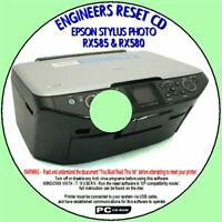 EPSON RX585 & RX580 WASTE INK PAD FULL ERROR ENGINEER SERVICE RESET COUNTER CD