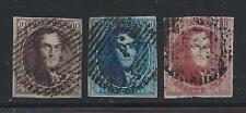 1849-50 Belgio/Belgium/Belgique - n° 3/5 Re Leopoldo I° in ovale  USATI