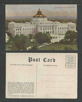 1910s #3002 LIBRARY OF CONGRESS WASHINGTON DC POSTCARD