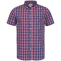 Lonsdale Herren Kurzarmhemd Brixworth Hemd Shirt Kariert // S M L XL XXL 3XL NEU