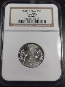 2006 P 25C Nevada Quarter SMS NGC MS66