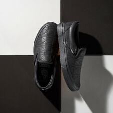 VANS CLASSIC SLIP-ON KARL LAGERFEILD BLACK QUILTED VN0A38F7OEI WOMEN'S SIZE 8