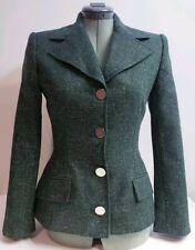 DOLCE GABBANA Women's Virgin Wool Dark Green Blazer Button Down! Size 4 EU 40