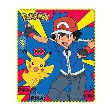 Pokemon Fleece Blanket Pikachu and Ash Official