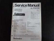 Original Service Manual Technics Compact Disc player sl-pg570a