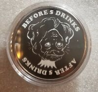 1 oz. 999 silver coin before and after beautiful women adult humor freedom girl