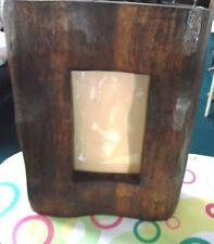 Rustic handmade wooden picture frame - 9 x 15.5 cm - Wood. Natural