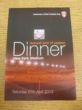 27/04/2013 Rotherham United: Annual End Of Season Dinner At The New York Stadium