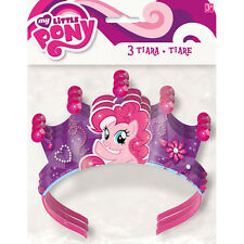 MY LITTLE PONY Pinkie Pie TIARAS (3) ~ Birthday Party Supplies Favors Headbands