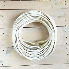 100' 12 Gauge White Flat Extension Cord with Lighted End