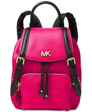 NWT MICHAEL Michael Kors Beacon Backpack Ultra Pink / Black MSRP $298