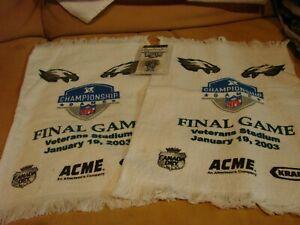 Eagles Championship Final Game Veterans Stadium 1/19/2003 2 towels,ticket,etc.