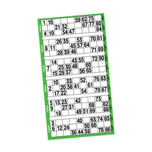 Bingo Jackpot Sheets - 1 Pad