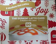 Dunkin Donuts 25 Medium Hot Latte Lattes Coffees Coffee Gift Card No TAX, expiry