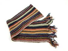 Multicolor Knit Winter Scarf Fringe-CJ4