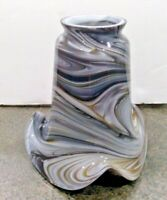 """BLACK MARBLE SWIRL SHADE 2 1/4"""" FITTER LAMP REPLACEMENT LIGHT FIXTURE GLOBE"""