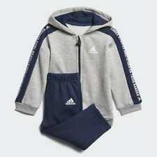 Adidas Infant Linear Hooded Fleece Tracksuit Boys Children Kids Jogger - DN8419