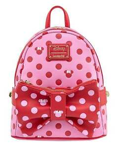 Loungefly Backpack Minnie Mouse Pink Bow 2 IN 1 new Official Mini Pink One Size