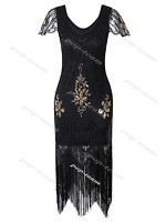 Deluxe 1920s Flapper Costume Gatsby Party Evening Prom Cocktail Dress Plus Size