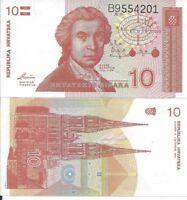 Lote de 5 billetes de 10 Dinares de Croacia
