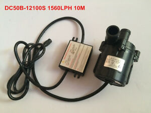 12V Small DC Water Pump 50B-12100S High Pressure 10m 54W Brushless Safe Quiet