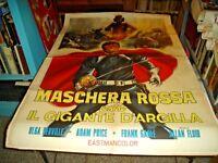 Mask Rossa Against The Giant D' Clay Manifesto 2F Original 1969