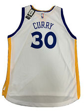 New Golden State Warriors Stephen Curry 2X Rev White Adidas Swingman Jersey NWT