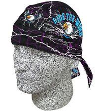 Purple Electic Ride the Wind Eagle Doo Rag Headwrap Skull Cap Sweatband Capsmith