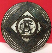 Vintage Automobile Club De France Badge Layered Fair Condition