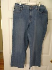 LEE PLATINUM LABEL LADIES SIZE 14 MEDIUM-RELAXED FIT JEANS-NWT!-STRAIGHT LEGS